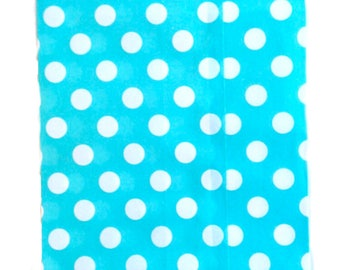 25 Blue Polka Dot favor bags / Treat Bags / Wedding Favor Bags / Birthdays / Party Favor Bags / Polka Dot Paper Treat Bags / Bakery Bags