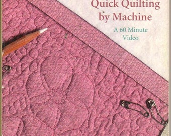 SALE* Quick Quilting by Machine/Sewing with Nancy Video, Nancy Zieman shows you how to machine quilt/stippling & MORE,details on back photo