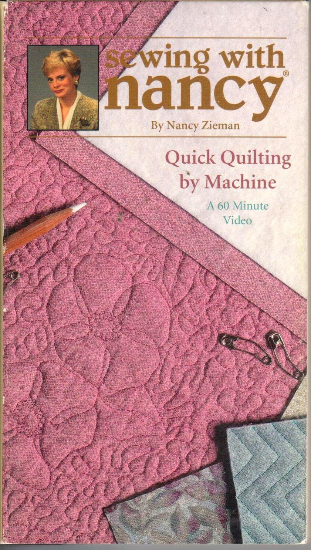 Verkauf schnelle Quilten von Maschinennähen mit Nancy Video