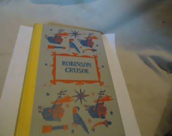 Vintage 1955 Robinson Crusoe by Daniel Defoe Junior Deluxe Edition Children's Book by Nelson Doubleday, hardback, collectable