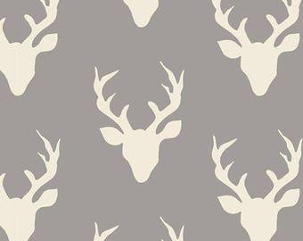 Art Gallery Fabrics Hello Bear Buck Forest Mist by Bonnie Christine - HBR-4438