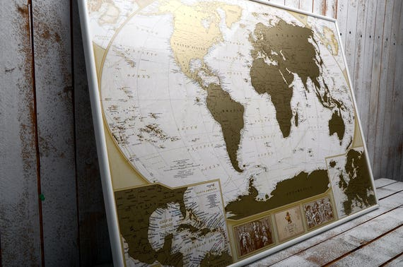 Framed personalized scratch off map world map with large like this item gumiabroncs Image collections