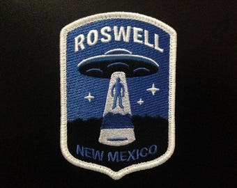 Roswell, New Mexico UFO Alien Abduction embroidered patch