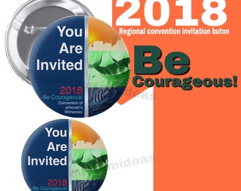 """Jw Theme button. """"You are invited"""" 2018 Convention buttons 2.25"""" or 1.5"""" size buttons"""