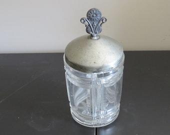 Antique Victorian Decorative Glass Jar, 1800's