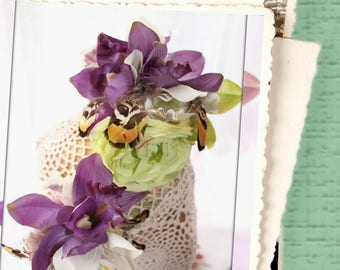 Floral Headpieces Lush Orchids,  Frida Kahlo inspired