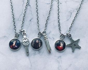 Paired pendants Teen Wolf, Necklace Allison Argent, Necklace Scott Mccall, Necklace Stiles Stilinski