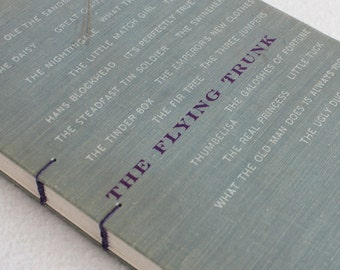 SALE Old Book Journal / Recycled Vintage Book / The Flying Trunk Rebound Journal by PrairiePeasant