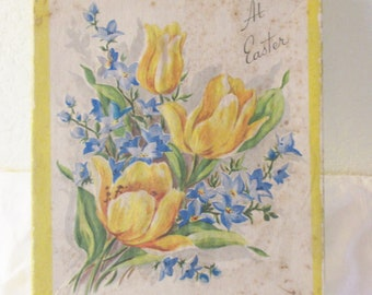 Vintage 1950s  At  Easter UNUSED Easter Cards in Seven in Box