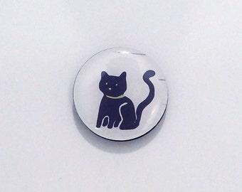 Black Cat Refrigerator Magnet / Fridge magnet / strong magnet / Kitten magnet