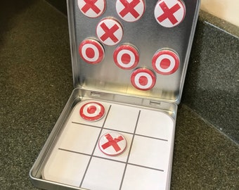 Red and White Tic Tac Toe