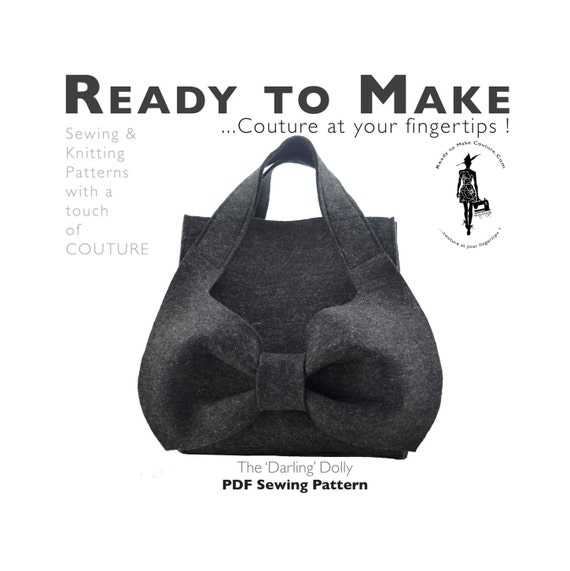 PDF-Schnittmuster Vogue Handtasche Designer Handtasche Hobo