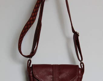 Small Red Purse with Long Strap, Small Red Messenger Bag (Hummin'bird)