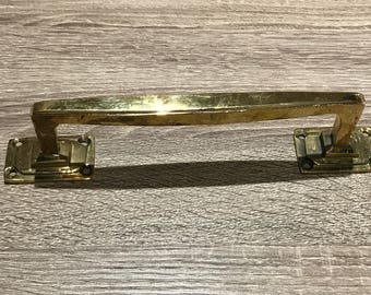 Vintage Hand crafted Brass Handles or Drawer Pulls -  Salvaged from a Luxury Ship - Restored and Refurbished