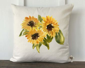 Farmhouse Sunflower Pillow Cover, Farmhouse Style, Decorative Couch Pillow, Housewarming gift, Wedding Gift, Summer decor