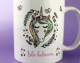 Personalised Unicorn Mug - Gift Idea