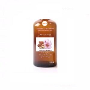 Organic Extra Virgin Sweet Almond  Oil  (Prunus dulcis)  100% Pure Cold Pressed - 100mL