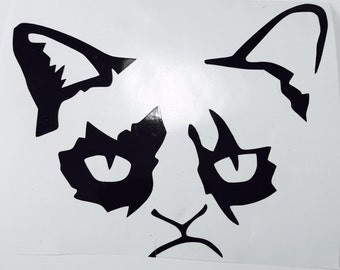 Large Grumpy Cat Decal