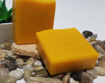 Carrot & Honey Soap, Handmade Soap, Carrot Soap, Honey Soap, Palm Fruit Soap, Soap Bar, Artisan Soap, Gifts for Her, Gifts for Him, 4.5 oz