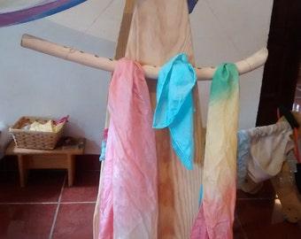 Wooden silk hanger / Waldorf play silks storage / Wiwiurka