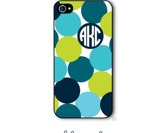 Polka Dots Phone Case Monogram iPhone 6 Case Design Your Own iPhone 6s Case Samsung Galaxy S5 S6 iPhone 5 iPhone 6 Plus iPhone 5c Style 241