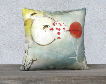 "Pollination 2 22"" x 22"" Pillow Case"