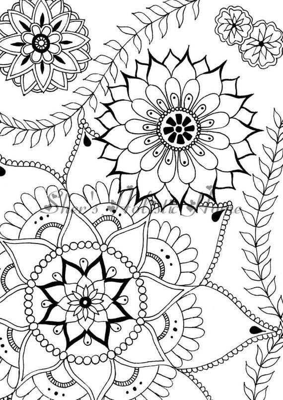 Fleur coloriage mandala fleur dessin de fleurs coloriage - Coloriage fleur mandala ...