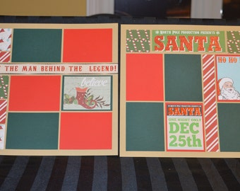 Santa scrapbook page kit