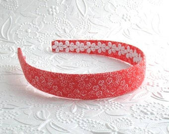 Coral Headband ~ Girls / Women / Adult Fabric Covered Plastic ~ Hard Headband
