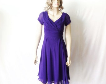 Blue Bridesmaid Dress. Evening Dress. Cap Sleeves Dress