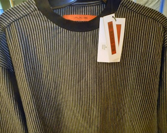Very Nice shirt From early 90's  Size Medium   by AXIS    Never Worn   Still With tags On  Black&Gray much Nicer than pictureS