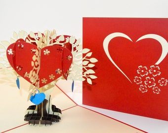 3d cards valentine card love card pop up card 3d