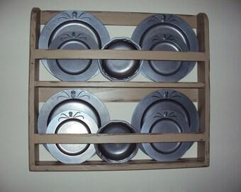 Plate shelf plate rack wall shelf vintage shelf handmade plate shelf & Plate Rack Plate Shelf Hanging Plate Shelf Hanging Plate