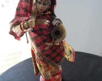 CLEARANCE Vintage Collectible Doll Female From India  852
