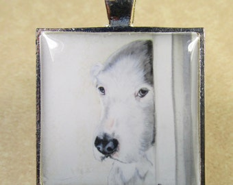 Old English Sheepdog Pendant, Sheepdog Necklace, Sheepdog Jewelry, OES Pendant, OES Necklace, Sheepdog Gifts, OES Gifts, Dulux Dog Gifts