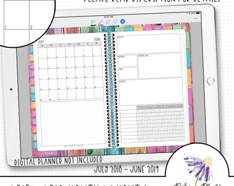 Digital Month Calendar Stickers