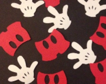 Mickey Mouse Glove and Pants Table/Card/Envelope Confetti