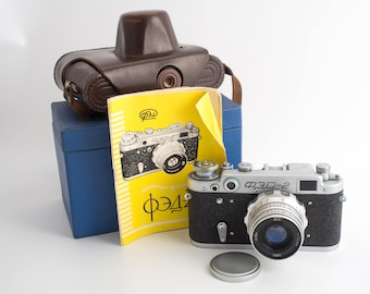 Fed 2, Soviet rangefinder camera with Industar 26m lens, boxed