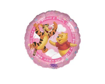 Winnie The Pooh It's A Girl Baby Balloons Foil (Mylar) - 18 Inch - Hanging Decorations Party Supplies