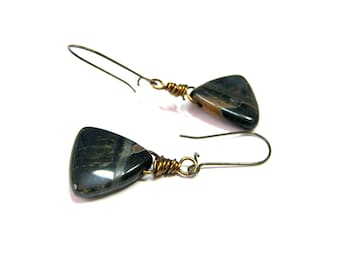 ON SALE Tiger Eye Earrings  Blue Tiger Eye Gemstones Hawkeye Top Selling Jewelry Top Selling Jewelry Gifts for Women