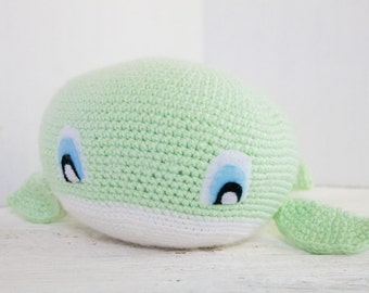 Stuffed Animal Whale - Whale Plush - Whale Plushie - Whale Stuffed Toy - Choose Your Colors - Custom Made Whale