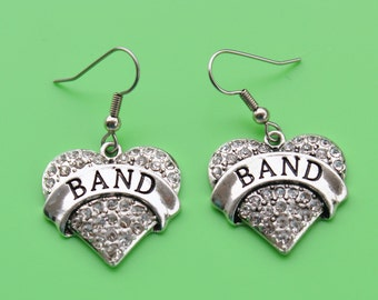 BAND EARRINGS,band,band teacher,music,music teacher,band student,marching band,band instructor,1553