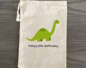 10 Birthday Treat Bags, Birthday Favor Bags, Candy Bags, Birthday Goodie Bags, Children's Birthday Birthday Custom - Dinosaur Theme