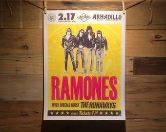 18x24 Ramones Concert Poster Concept