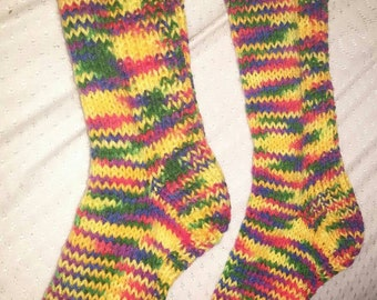 Multicolored marbled socks unisex kids from 9 to 12 years old
