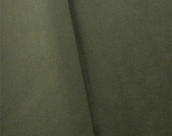 Bay Leaf Green Faux Suede, Fabric By The Yard