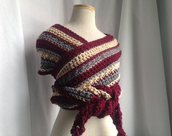 Crochet PATTERN - October scarf crochet pattern, super scarf crochet pattern, easy crochet scarf, mens crochet scarf pdf, easy womens scarf