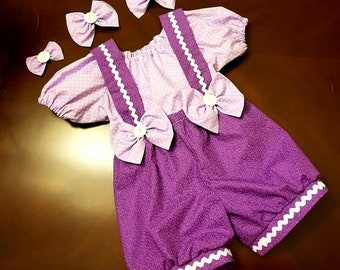 Girls Pageant Casual Wear Outfit of Choice Fits 18 mos -2T  Bubble Shorts Top