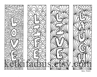 Coloring Bookmarks Lines PDF Download Geometric Bookmarks to