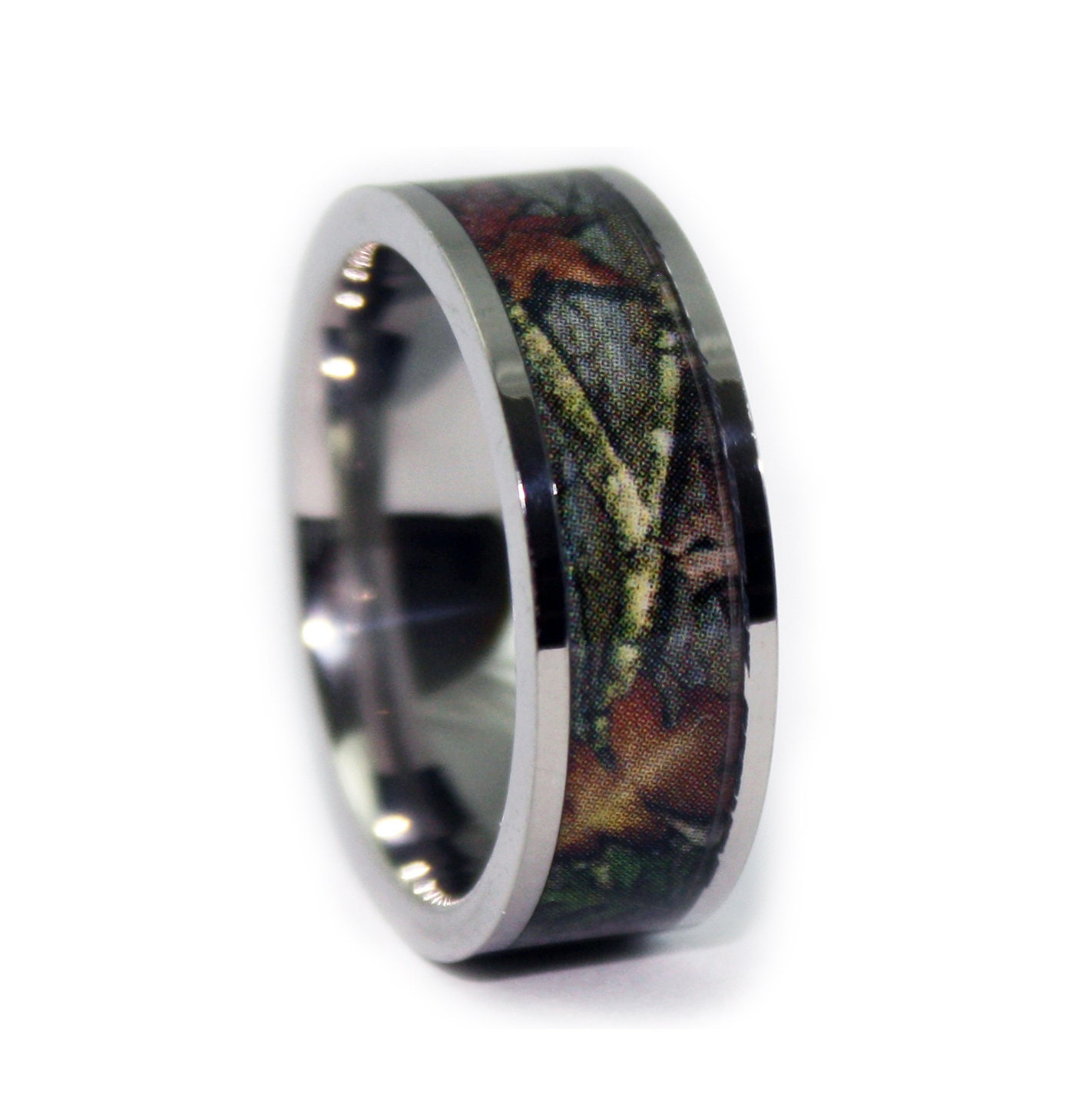 camo jewelry bands diamond size products rings wedding black hers multi forest set engagement green plating couples her simulated square his ring s